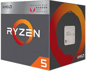 CPU AMD Ryzen5 2400G  3.6  SK AM4(3,9 ghz max boost)